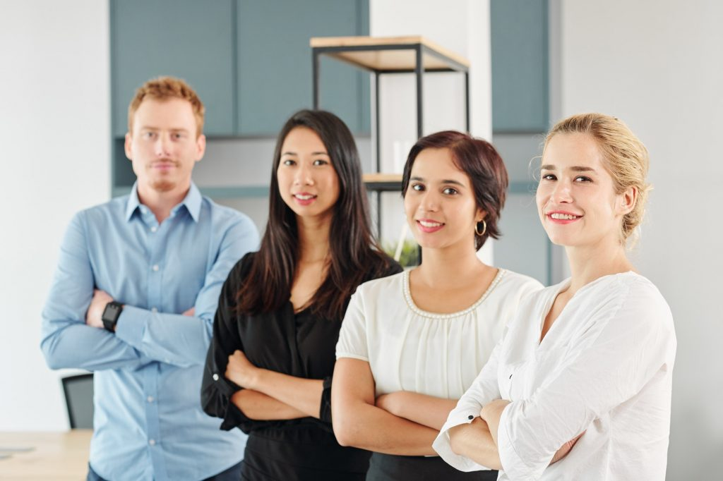 Young multi-ethnic business team